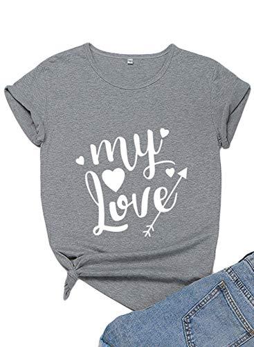 """Camisas para el día de San Valentín para mujer con texto en inglés """"My Love"""""""