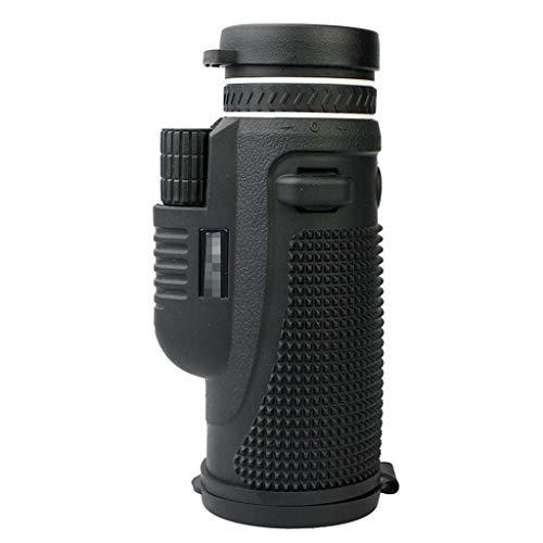 OLLVU 40x60 De Alta Potencia De Un Solo Cilindro Telescopio De Mano HD Telescopio De Alta Potencia con Soporte De Teléfono Inteligente (Color : Black, Size : C)