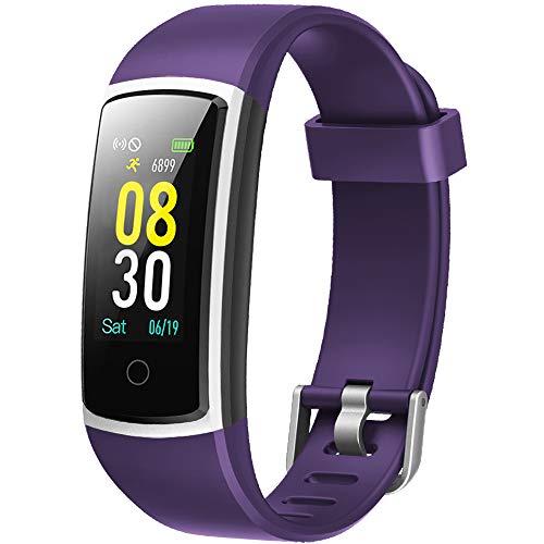 YAMAY Smartwatch Orologio Fitness Tracker Uomo Donna Pressione Sanguigna Smart Watch Cardiofrequenzimetro da Polso Contapassi Smartband Sportivo Activity Tracker per Android iOS Xiaomi Samsung Huawei