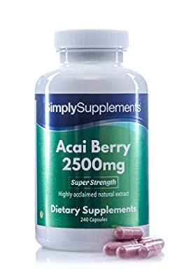 SimplySupplements Acai Berry 2500mg |Contains powerful levels of antioxidants| 240 Capsules from Simply Supplements