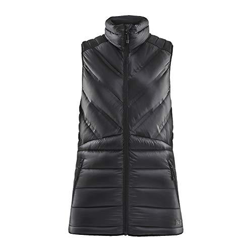 Craft Sportswear LT Down - Chaleco de invierno ligero y plegable para mujer - Negro - Small