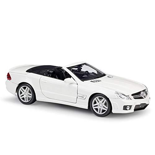 Aleación Niño Coche Deportivo 1:18 por Mercedes para Benz para SL63 para AMG Sports Car Convertible Simulación De Aleación Modelo De Automóvil Colección De Juguete De Regalo para niños pequeños niños