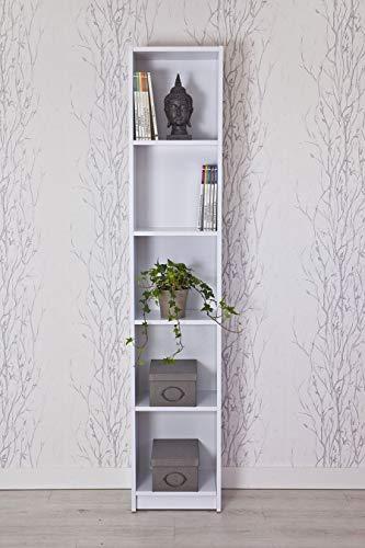 Topkit | Estantería Clásica Berlín 8002 | Medidas 203 x 40 x 29 cm | Estantería Libros | Estantería Decorativa | Blanco