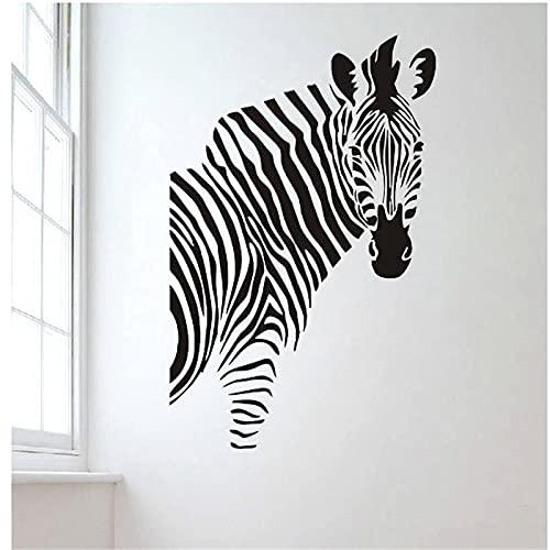 Etiqueta de la pared de cebra estilo Animal decoración del hogar calcomanía de pared creativa niños habitación decoración de guardería murales de arte A6 58x37cm
