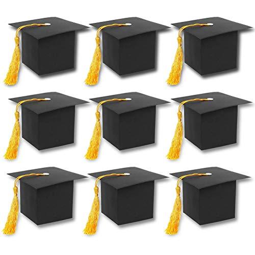 FUTUREPLUSX Graduation Cap Gift Box, 30PCS DIY Graduation Party Favor Boxes Graduation Paper Candy Boxes