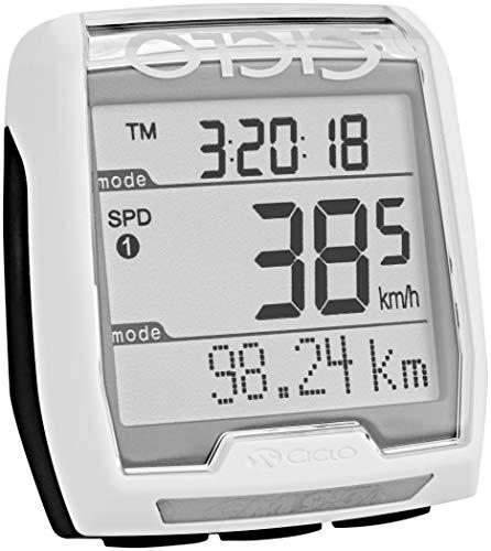 CICLO CM 9.3 A Plus Altimètre + Cardio + Cadence Compteur de vélo Adulte Unisexe, Blanc, Standard