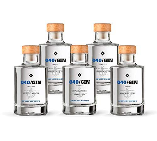 040 Gin Mini (5 x 0.05l) - Manufaktur Gin des HSV - fruchtig frischer Hamburger Gin