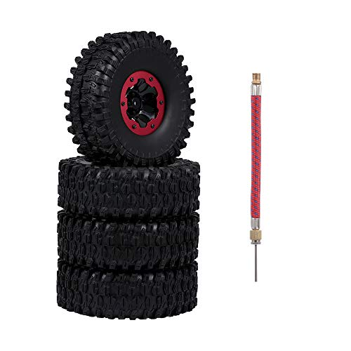 Goolsky 120mm 1,9 Zoll Felge Gummi Aufblasbare Reifen Reifen Rad für RC Auto Traxxas HSP Redcat RC4WD Tamiya Axial SCX10 D90 HPI RC Rock Crawler 4 stücke