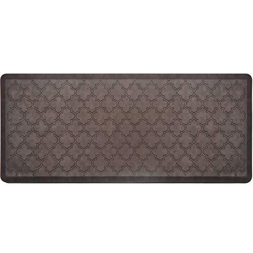 HEBE Kitchen Mat Cushioned Anti Fatigue Floor Mat Waterproof Non Skid Kitchen Rug Ergonomic Floor Pad Comfort Standing Mat for Office,Sink,Laundry 20'x39',Brown