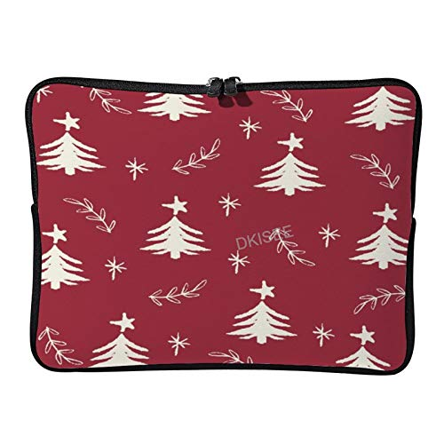 Lplpol Merry Christmas Laptop Sleeve for Women Men, Compatible with 13 Inch MacBook Air/MacBook Pro Notebook Two-way Zippers Laptop Carrying Bag Case Cover