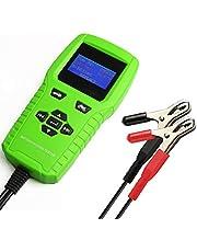 Marshell バッテリーテスター バッテリーチェッカー バッテリー診断機 (CCA値/内部抵抗値mΩ/電圧)LEDデジタル表示 12V蓄電池バッテリー用
