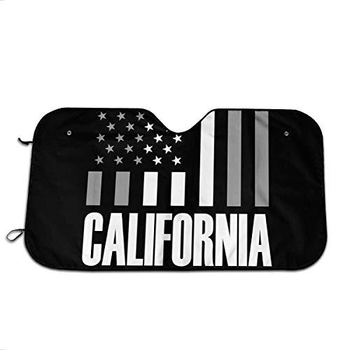 Osmykqe California USA Flagge Auto Sonnenschutz Windschutzscheibe Sonnenschutz Sonnenschutz Universal für Auto SUV Truck, blockt UV-Strahlung, schützt den Innenraum kühl