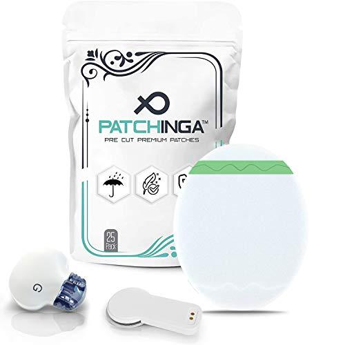 PATCHINGA | Medtronic Guardian Sensor 3 / Enlite & MiaoMiao | 25er Pack | Premium | CGM Patch | Transparente Fixiertapes | Selbstklebend | Wasserfest | Hautfreundlich - bis zu 14 Tage Klebekraft