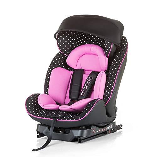 Chipolino Kindersitz Mondo mit Isofix Gruppe 0+/1/2 (0-25 kg) Top Tether, Dach, Farbe:pink