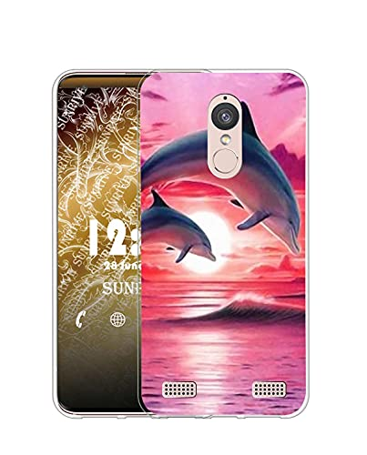 Sunrive Case compatible with Lenovo K6 / K6 Power, Ultra Slim Transparent Soft Premium TPU Silicone Back Rubber Bumper Protector Cover Case(Q dolphin)