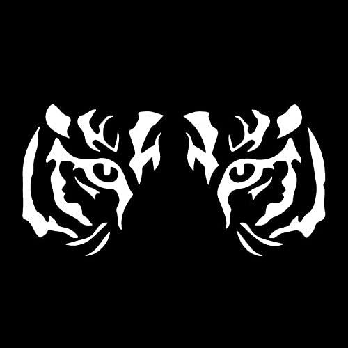 Wzjh 16.8cm X 8.4cm Eyes Tiger Eyes Pegatina de Coche Decoración de la Ventana de la Ventana de la Ventana Vinilo (Color Name : White)