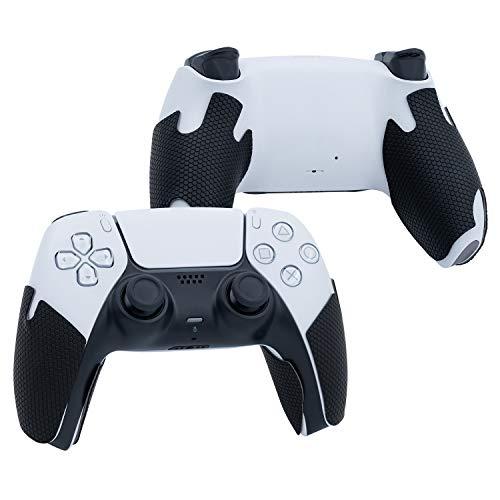 Mcbazel Gamepad Handle Grips 2 par de cubierta antideslizante absorbente de sudor para el controlador PS5 (Negro)