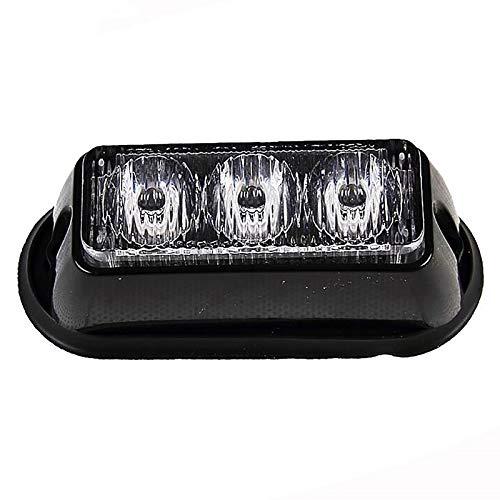 Huachaoxiang Advertencia Luces Intermitentes, Linterna LED Impermeable No Beacon Flash Bake PRECAUCIÓN Lámpara de Barra Auto Emergencia Peligro Parpadeo,Negro