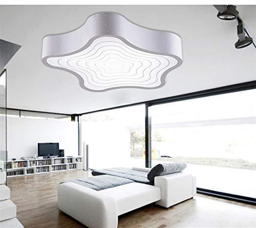 BaiXing Modernes Nordeuropa Kreativität einzigartiges Design Kronleuchter Wohnzimmer Hotel Büros Schlafzimmer Penta Raster- Licht LED Eisen-Acryl 430 * 100 MM