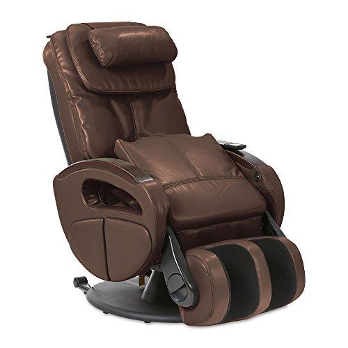 Massagesessel mit elek. Aufstehfunktion, Shiatsu-Massage, Wärmefunktion, 4 Massagetechniken, 6 Massagezonen, Transportrollen, inkl. Kopf- & Nackenkissen (Braun)
