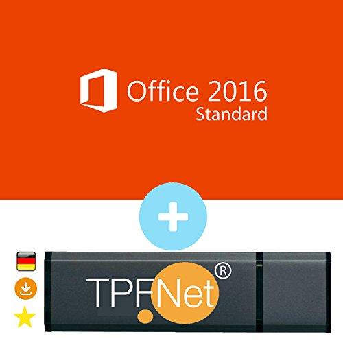 MS Office 2016 Standard 32 bit & 64 bit - Original Lizenzschlüssel mit USB Stick von - TPFNet®