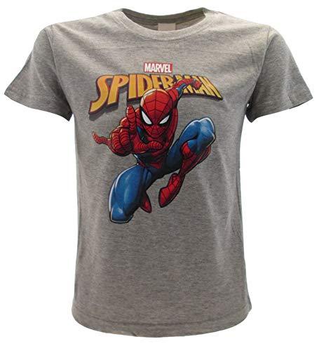T-shirt Spiderman original Spider-Man pour homme, salle de bain, gris, Marvel officiel - Gris - 9-11 ans