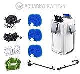 Aquarium Außenfilter HW-704A 45W 2000 L/h bis 1000l Becken +Filtermaterial