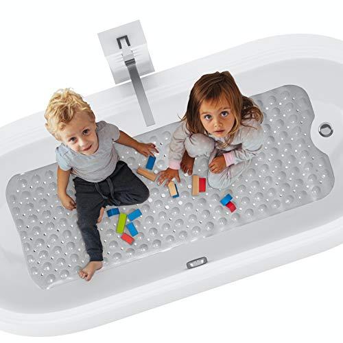 riijk Badewannenmatte rutschfest XXL 100x40 cm   Antirutschmatte Badewanne   Badewannenmatte Kinder   Badewanneneinlage  RutschmatteBadewanne