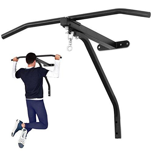 Physionics Boxsack Wandhalterung mit Klimmzugstange - 2 in 1 Wandbefestigung, bis 100 kg belastbar, ideal zur Muskelstärkung - Pull Up Bar, Boxen, MMA, Krafttraining, Heimtraining, Fitnessgerät