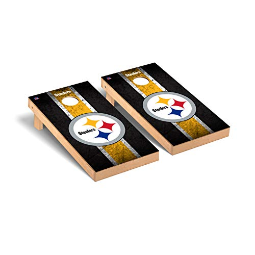 Pittsburgh Steelers NFL Football Regulation Cornhole Game Set Vintage Version 2 -  Victory Tailgate, 812062