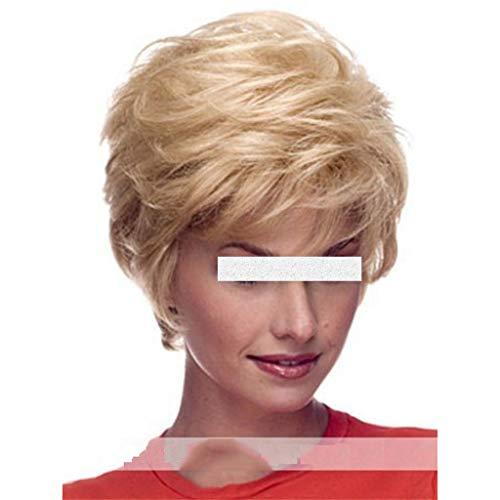 Perruques Y DWANYE Mesdames Droite Courte Perruque Blonde Mode (Color : A)