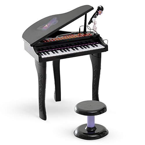 HOMCOM 37 Keys Kids Mini Electronic Keyboard Children Grand Piano with...