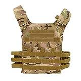 Lllunimon Caza táctico Body Armor Molle Portador de la Placa CS Chaleco al Aire Libre Juego de Paintball Airsoft Equipo Militar Chaleco,CP