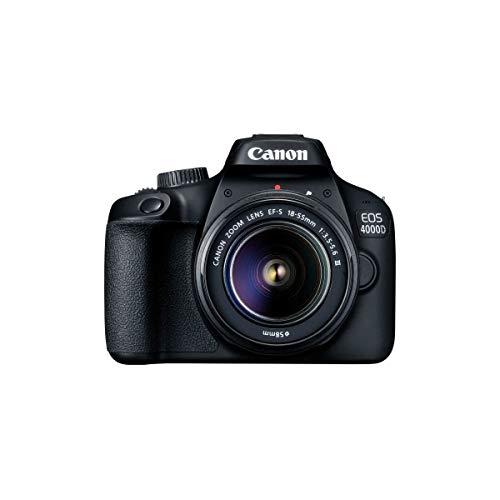 Canon EOS 4000D Kit 18 55mm III Digitale Spiegelreflexkamera EF S 18 55mm is II 18 Mio Pixel Schwar
