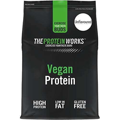 Vegan Protein Powder | 100% A Base de Plantas | Sin Gluten | Ecológico | Bajo en Grasas| THE PROTEIN WORKS | Sin Sabor | 1kg