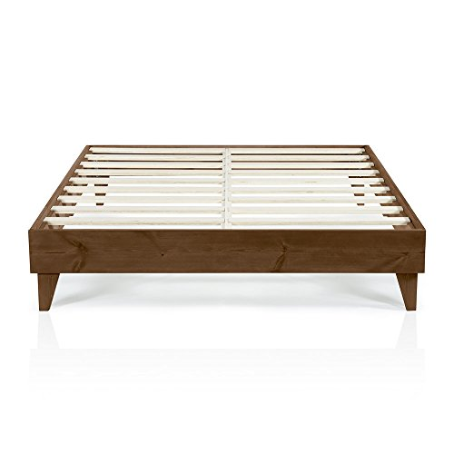 Cardinal & Crest | Wood California King Bed Frame No Box Spring Needed | Easy Assembly & Heavy Duty | Ideal California King Platform Bed Frame, Low Bed Frame, Wood Platform Bed Frames, Bed Frame Wood