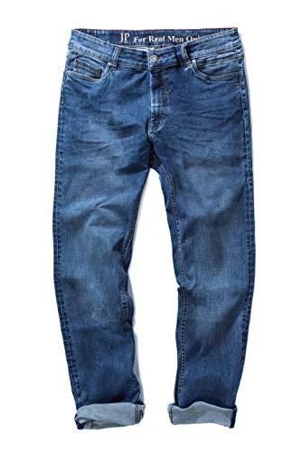 JP 1880 Herren große Größen bis 70, Jeans, 5-Pocket FLEXNAMIC®, super-elastischer Denim, Gerade geschnittenes Bein, schmalere Fußweite, Blue Stone 56 722849 91-56