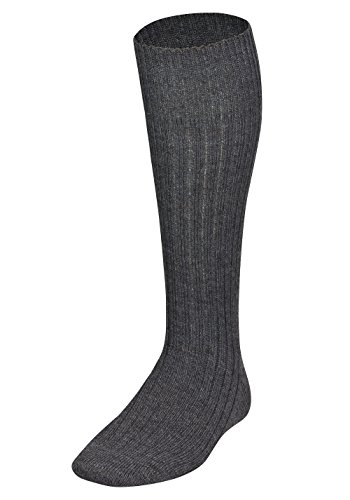 Tobeni 1 Paar Bundeswehr-Socke Lang Militär Kniestrumpf Army Farbe Grau Grösse 44-45