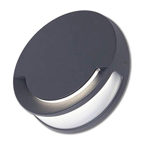 WZXCAP Minimalistisch regenbestendig sconce opbouwmontage LED wandlamp ronde buiten waterdichte verlichting moderne eenvoud wandlamp tuin binnenplaats aluminium metalen verlichting