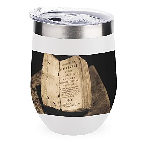 Taza aislada de acero inoxidable 304, añade citas de la Biblia, arte religioso para papá Monther Friend regalo de cumpleaños, vacaciones, 12 onzas