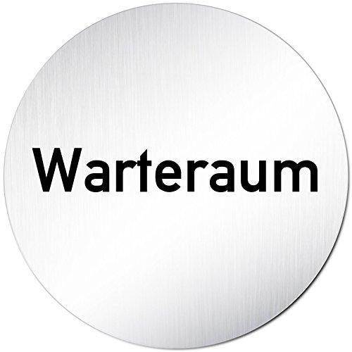 Kinekt3d Leitsysteme Türschild Hinweisschild Warteraum/Wartezimmer Aluminium (eloxiert) Rund 100mm Ø