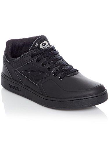 O'NEAL | Zapatillas de Bicicleta | MTB DH FR | Equilibrio Entre el Agarre y el reposicionamiento del pie, protección de la articulación Interna | Zapatilla Pinned Pro | Adultos | Negro | Talla 43
