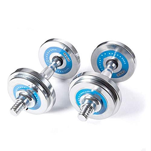 ALBN Par de mancuernas de uso general, incluyendo dos mancuernas, levantamiento de pesas, mancuernas multifuncionales para entrenamiento de fuerza (color: 10 kg)