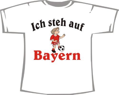 Ich steh auf Bayern; Kinder T-Shirt weiß, Gr. 12-14
