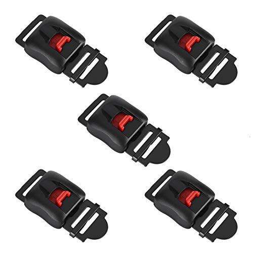 KIMISS 5 uds interruptores de liberación rápida seguros para cascos de motocicleta...