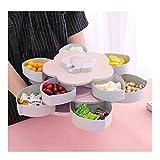 squarex  Bloom Rotation Snack Box Design Fleur Bonbons Boîte De Stockage des Aliments Bijoux Organisateur - Fête/Anniversaire Enfant/Festival de la Maternelle/Snack/Cuisine Maison (Rose)