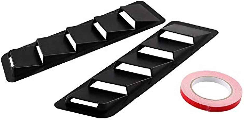 Black ABS Car Sticker Hood Intake Panel Vent Louver Cooling Panel Trim Set Matte
