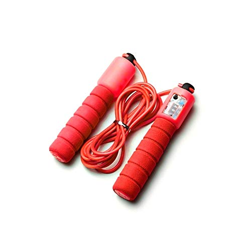 Learn More About Professional Skipping Rope with Anti-Sport Fitness Adjustable Speed Counting Skippi...