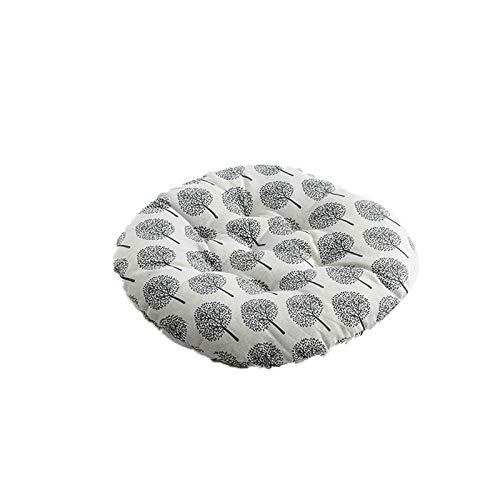 Cojín para el cojín de la silla Cojines del asiento - 1 / 4PCS nórdica impresión de la silla redonda Cojín de algodón transpirable suave acolchado Oficina Patio Decoración cojines del sofá almohada Gl
