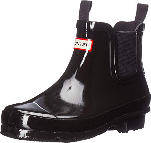 Hunter Kids Original Chelsea (Little Kid/Big Kid) Black Gloss 5 Big Kid M